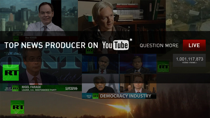 RT becomes first TV news channel to hit 1 billion views on YouTube