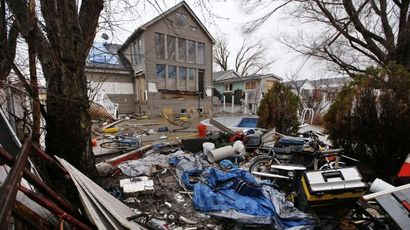 A home destroyed and abandoned after Hurricane Sandy is seen on Fox Beach Avenue in the Oakwood Beach section of Staten Island in New York City, New York, March 25, 2013. (REUTERS/Mike Segar)
