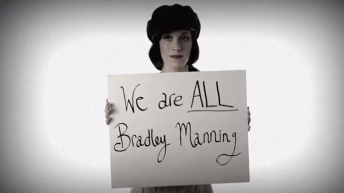 Screenshot from YouTybe user I am Bradley Manning
