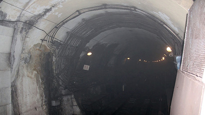 Smoke at the Okhotny Ryad subway station in Moscow on June 5, 2013. (RIA Novosti)