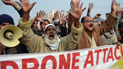 Pakistani demonstrators shout anti-US slogans during a protest in Multan.(AFP Photo / S.S Mirza)