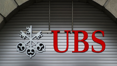 The logo of Swiss Bank UBS.(AFP Photo / Fabrice Coffrini)