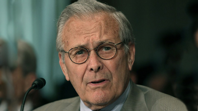 Donald Rumsfeld (AFP Photo / Mark Wilson)
