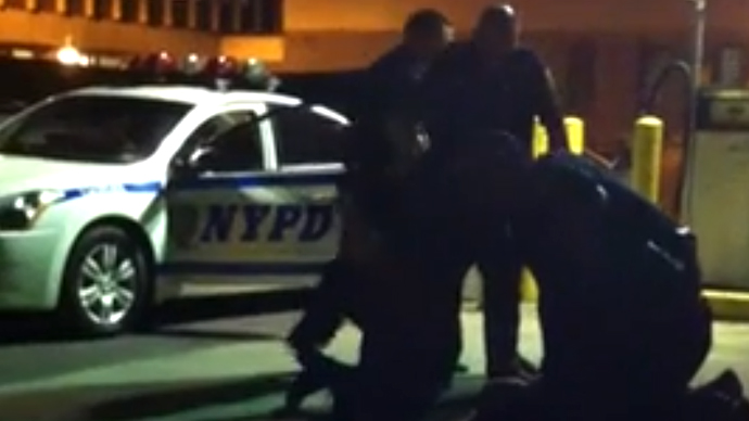 NYPD officers caught on video assaulting gay man in latest stunt