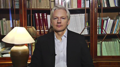 Julian Assange (Still from RT video)