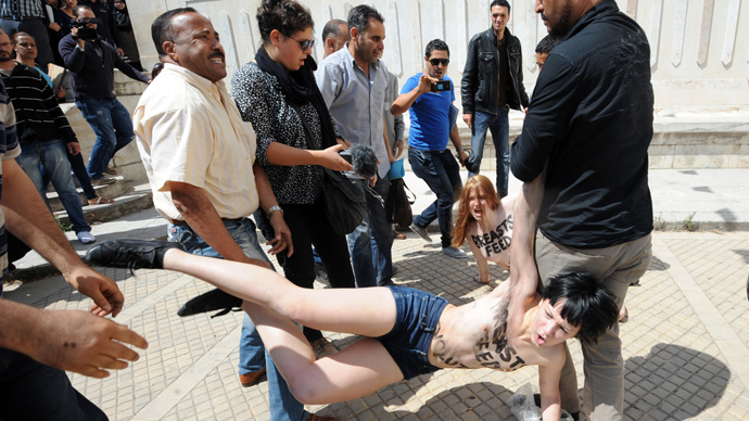 Tunisia sentences topless Femen protesters to 4 months behind bars
