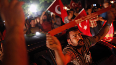 Anti-government protesters demonstrate on a street in central Ankara June 14, 2013. (Reuters/Dado Ruvic)