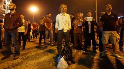 Erdem Gunduz stands in a silent protest at Taksim Square in Istanbul early June 18, 2013.(Reuters / Marko Djurica)