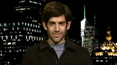 Aaron Swartz (Screenshot from RT video)