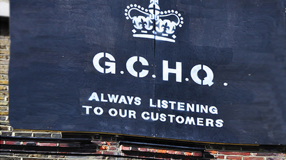 Street artwork about the UK Government Communications Headquarters. (Photo by George Rex / flickr.com)