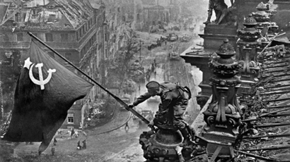 Banner of Victory over Berlin, 1945. (RIA Novosti / Evgeniy Haldei)