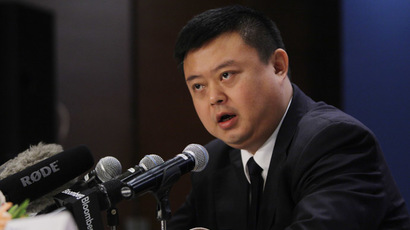 Wang Jing, HKND Group chairman, answers a question at a news conference in Beijing, June 25, 2013. (Reuters/Jason Lee)