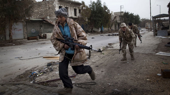 Syrian Turkmen rebels.(AFP Photo / Jm Lopez)