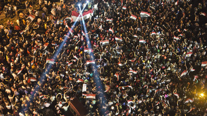 Egyptian demonstrators gather outside the presidential palace in Cairo during a protest calling for the ouster of President Mohamed Morsi on July 1, 2013.(AFP Photo / Khaled Desouki)