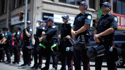 Canadian police forces.(AFP Photo / Jemal Countess)