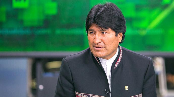 Bolivian president Evo Morales (RT photo/Semyon Khorunzhy)
