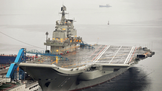 China's first aircraft carrier is seen docked at Dalian Port, in Dalian, Liaoning province (Reuters / Stringer)