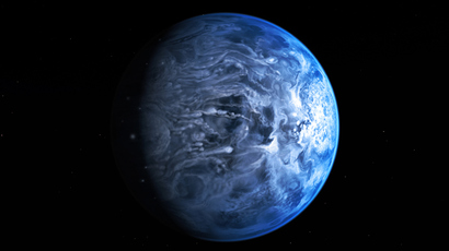 Artist's Impression of the Deep Blue Planet HD 189733b (AFP Photo / ESA / Hubble / NASA / M. Kornmesser)