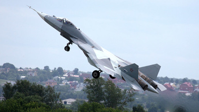 Test flight of the fifth generation fighter aircraft T-50 designed by Sukhoi OKB (RIA Novosti/Alexei Druzhinin)
