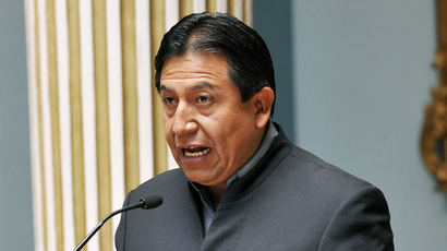 Bolivian Foreign Minister David Choquehuanca (AFP Photo/Aizar Raldes)