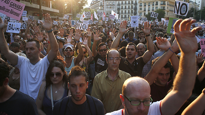 'Out with the Mafia!' Mass anti-govt protests backed by Anonymous grip Spain  (PHOTOS)