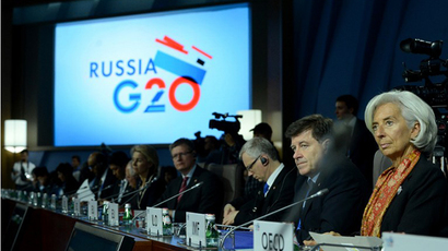 The plenary session during the G20 Finance Ministers and Central Bank Governors' meeting in Moscow on July 19, 2013. (AFP Photo / Kirill Kudryavtsev)