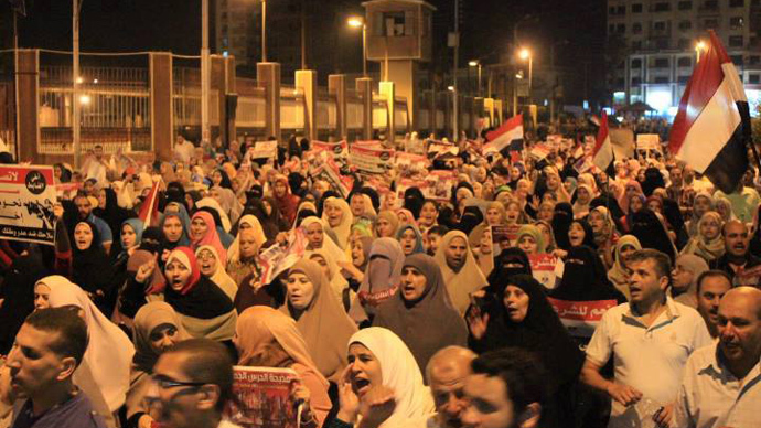 Three killed as protesters clash in Egypt
