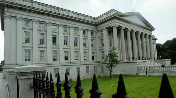 US Treasury Building in Washington, DC (AFP Photo)