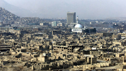 A high angle view of war-torn Kabul.(Reuters / Erik de Castro)