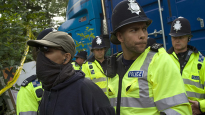 Exploratory fracking tests outside London kick off despite protests