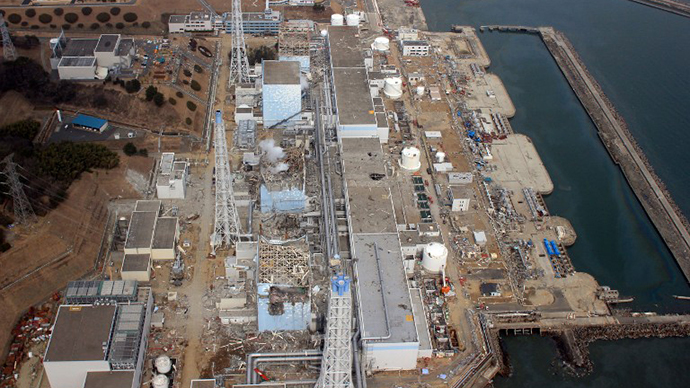 This aerial view shows Tokyo Electric Power Co (TEPCO) Fukushima Daiichi nuclear power plant at Okuma town in Fukushima prefecture (AFP Photo)