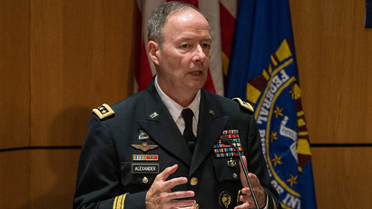General Keith B. Alexander, Director of the National Security Agency (NSA) and Commander of U.S. Cyber Command (AFP Photo / Andrew Burton)