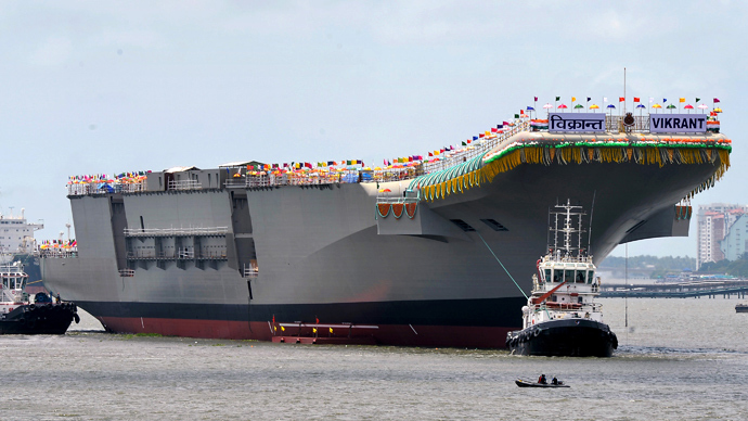 India launches first home-built aircraft carrier