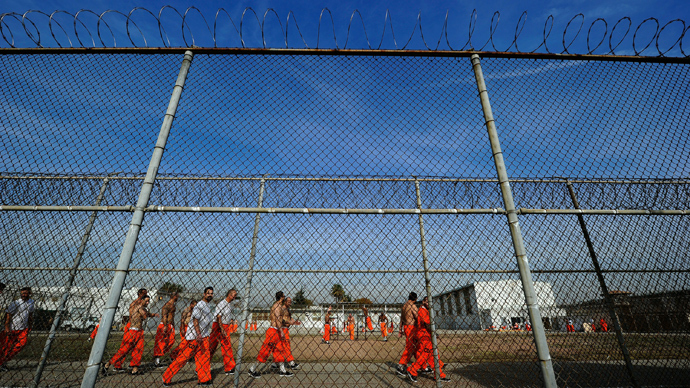 Inmates at Chino State Prison (AFP Photo)