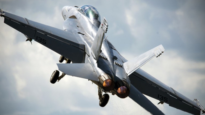 An F-18 Hornet (AFP Photo / Adrian Dennis)