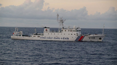 China Coast Guard vessel No. 2146 sails in the East China Sea near the disputed isles known as Senkaku isles in Japan and Diaoyu islands in China, in this handout photo taken and released by the 11th Regional Coast Guard Headquarters-Japan Coast Guard August 8, 2013.(Reuters / 11th Regional Coast Guard Headquarters-Japan Coast Guard)