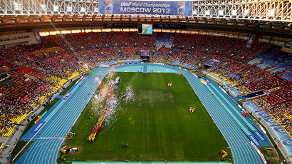 The closing ceremony of the 2013 World Championships in Athletics at Moscow's Luzhniki stadium on August 18, 2013. (RIA Novosti / Anton Denisov)