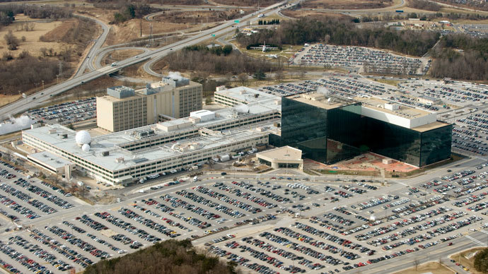 The National Security Agency (NSA) headquarters at Fort Meade, Maryland, as seen from the air, January 29, 2010.(AFP Photo / Saul Loeb)
