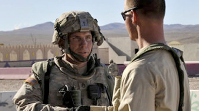 This August 23, 2011 photograph obtained courtesy of the Defense Video & Imagery Distribution System (DVIDS) shows Staff Sgt. Robert Bales (L) at the National Training Center in Fort Irwin, California (AFP Photo)