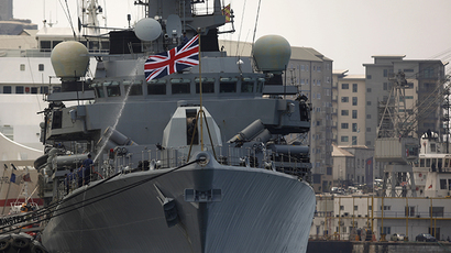 Members of the British Royal Navy frigate HMS Westminster (Reuters / Jon Nazca)