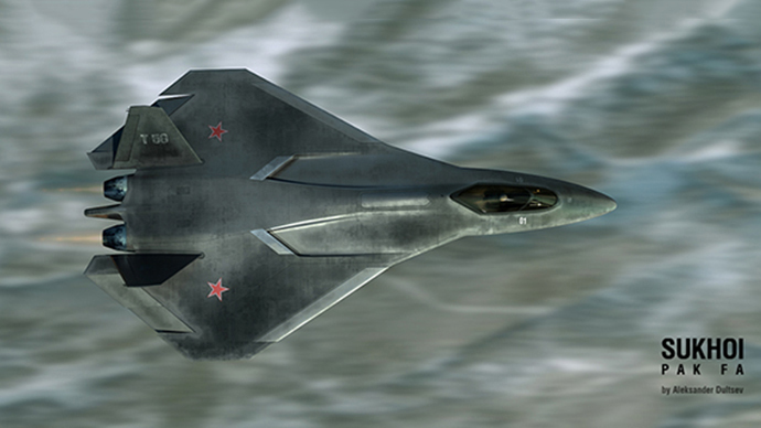 Possible PAK-FA appearance visualized by Aleksandr Dultsev (Image from www.duler.ru)