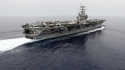 USS Nimitz aircraft carrier group rerouted to help US strike on Syria, if needed - report