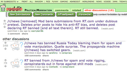 Reddit forum downgraded after moderators accused of censorship