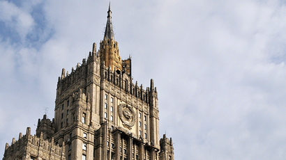 The Russian Ministry of Foreign Affairs building on Smolenskaya Square, Moscow. (RIA Novosti / Andrei Telichev)