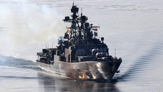 "Anti-submarine ship ""Admiral Panteleyev"" (RIA Novosti / Vitaliy Ankov)"