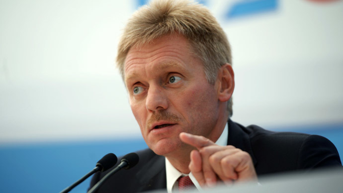 The Russian President's press secretary Dmitry Peskov (RIA Novosti/Host Photo Agency)