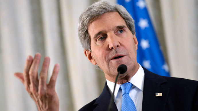 US Secretary of State John Kerry answers a question during a press conference at the United States Embassy in Paris, on September 8, 2013.(AFP Photo / Susan Walsh)