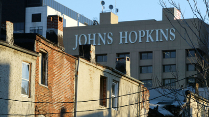 Johns Hopkins University (JHU) in Baltimore, Maryland (AFP Photo)