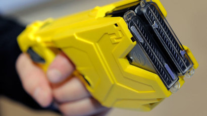 Taser International's X2 two-shot Taser.(AFP Photo / Ethan Miller)