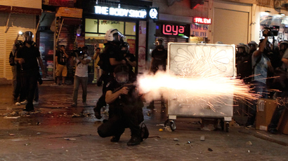 Riot police fire tear gas during a protest in central Istanbul September 10, 2013 (Reuters / Osman Orsal)